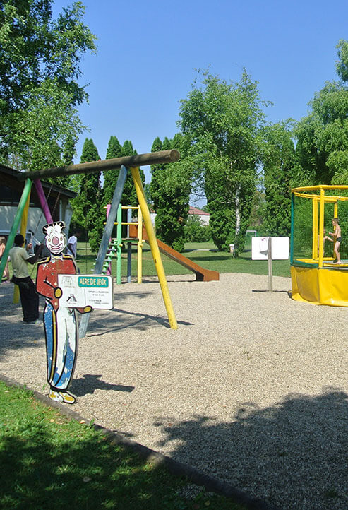 Children playground at Camping le Val d'Amour