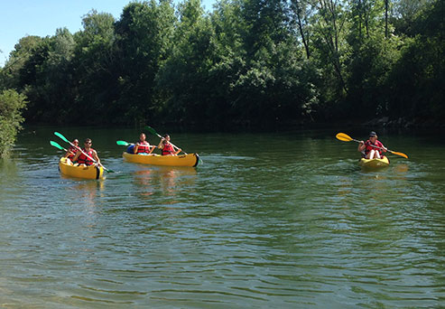 Go down the La Loue by canoe, camping le Val d'Amour in Ounans