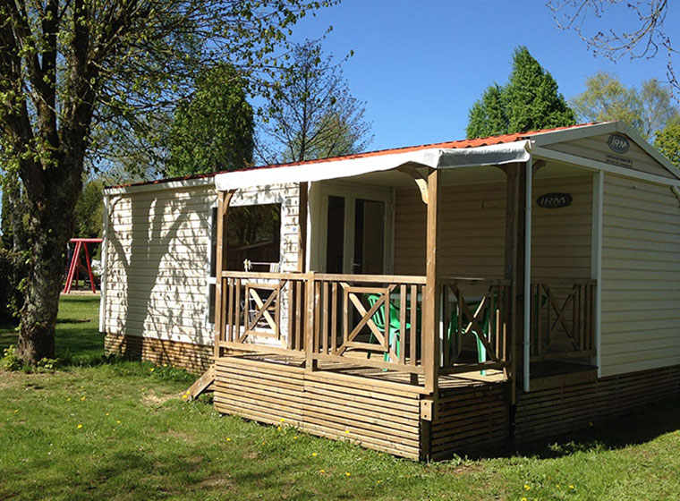 Loggia mobile home camping Val d'Amour